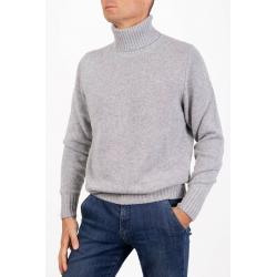 Cashmere Double Thread Turtleneck Sweater Medium Gray
