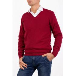 Sweater V Neck Men Cashmere Bordeaux